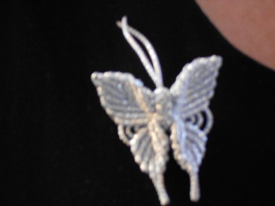 Japanese butterfly badge