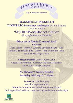 Kendal-Choral-Society-spring-concert-chilcott-pergolesi