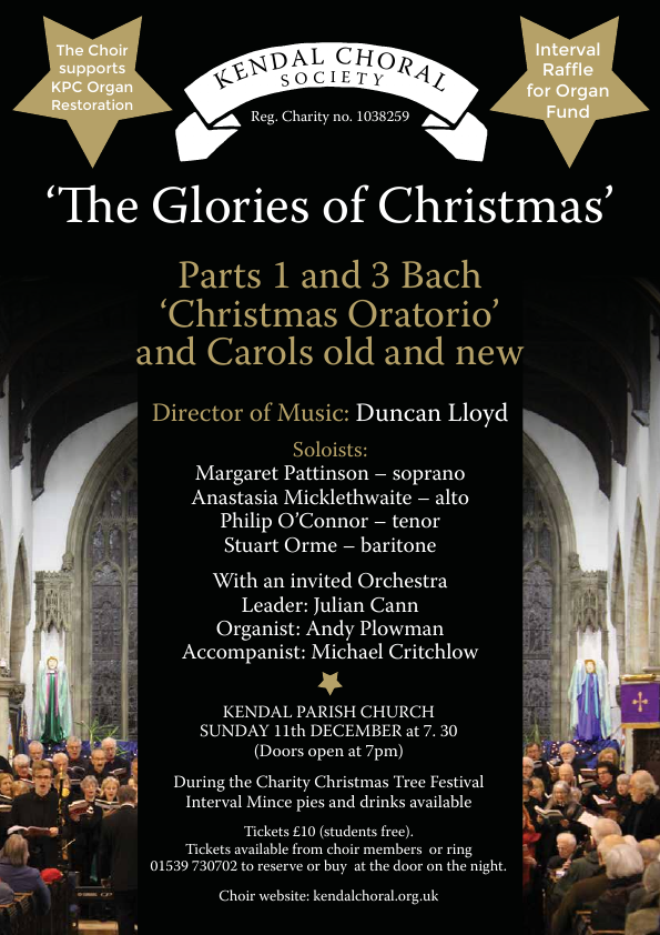 Christmas Concert at Kendal Parish Church , The Glories of Christmas, Kendal Choral Society