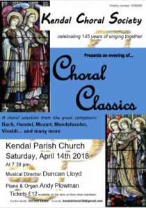 Choral Classics Concert - Kendal Choral Society